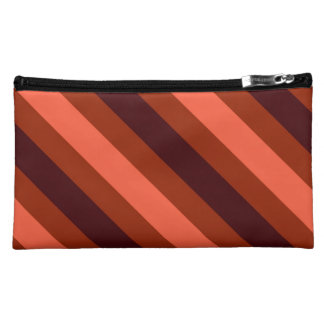Autumn Inspired Stripes Makeup Bag