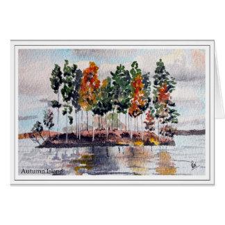 Autumn Island Colours Card