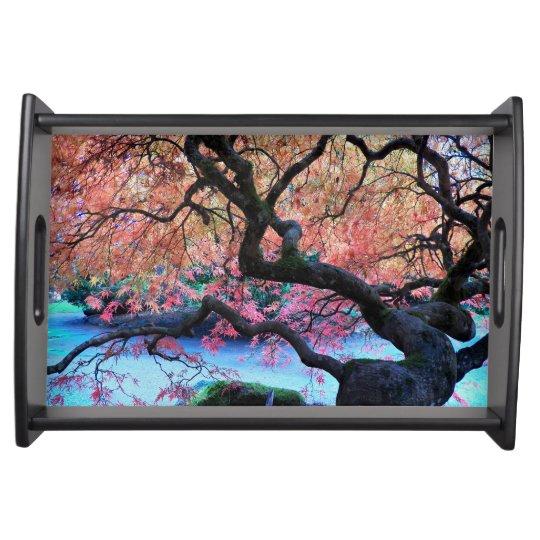 Autumn Japanese Maple Tree Photo Serving Tray