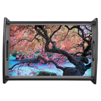 Autumn Japanese Maple Tree Serving Tray