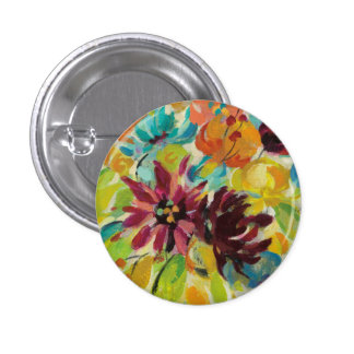 Autumn Joy Flowers 3 Cm Round Badge