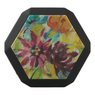 Autumn Joy Flowers Black Bluetooth Speaker