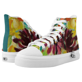 Autumn Joy Flowers Printed Shoes