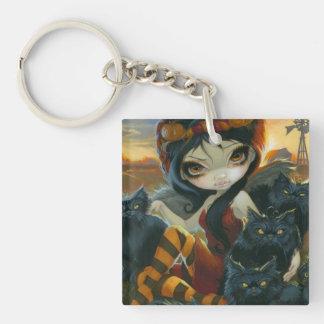 Autumn Kitties Keychain Acrylic Key Chain