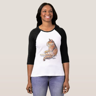 Autumn Kitty Raglan Sleeve Baseball Tshirt