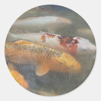 Autumn Koi Classic Round Sticker
