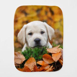 Autumn Labrador Burp Cloth