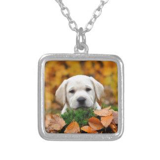 Autumn Labrador Silver Plated Necklace