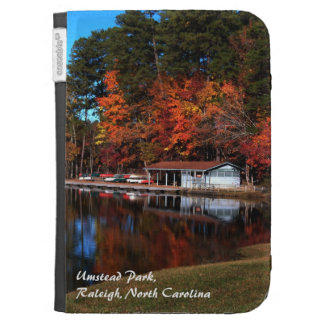 Autumn Lake Boat Dock Kindle 3 Cases