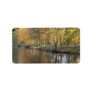 Autumn Lake Label