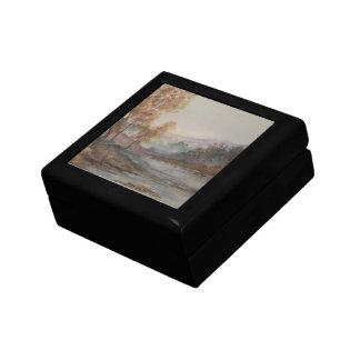 Autumn Lake Landscape Jewelry Box