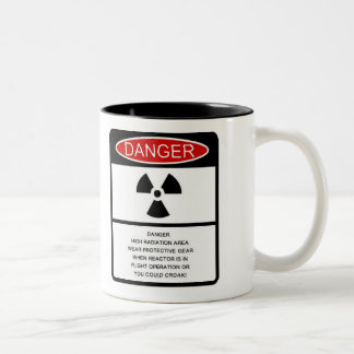 "Autumn Lake ""RADIATION HAZARD"" Coffee Mug"