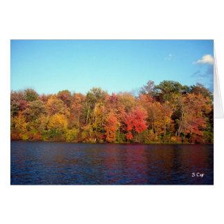 Autumn Lake, S Cyr Card