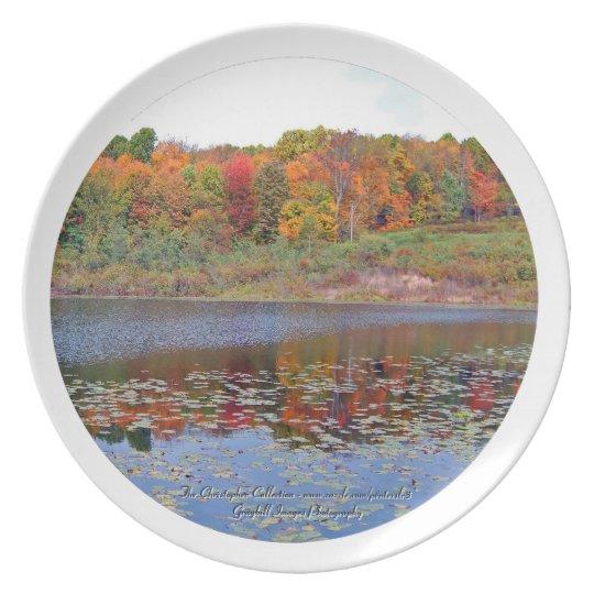 Autumn Lake Scene Plate