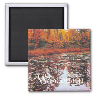 Autumn Lake View, Wisconsin Magnet