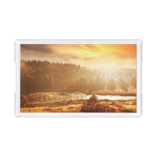 Autumn landscape acrylic tray