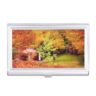 Autumn Landscape Business Card Holder