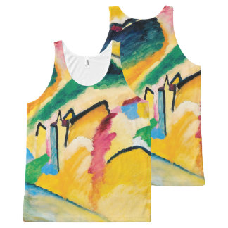 Autumn Landscape by Wassily Kandinsky All-Over Print Tank Top