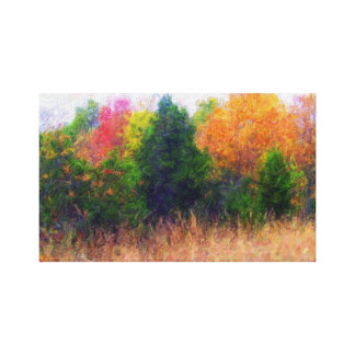 Autumn Landscape Canvas Stretched Canvas Print