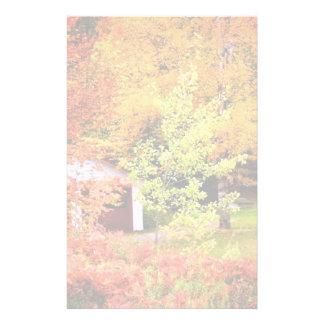 Autumn Landscape Custom Stationery