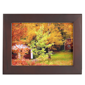 Autumn Landscape Keepsake Box