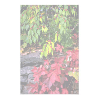 Autumn landscape New England U S A Stationery Paper