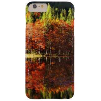 Autumn landscape on a lake barely there iPhone 6 plus case
