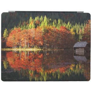 Autumn landscape on a lake iPad cover