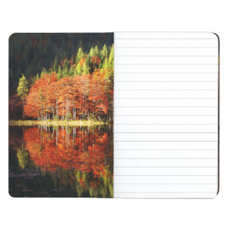Autumn landscape on a lake journal