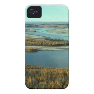 AUTUMN LANDSCAPE ON THE RIVER SURROUNDED BY TREES iPhone 4 Case-Mate CASES