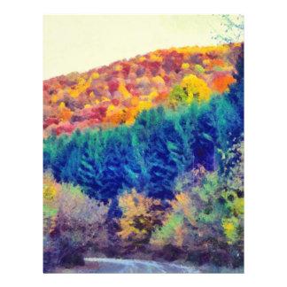 Autumn landscape painting 21.5 cm x 28 cm flyer