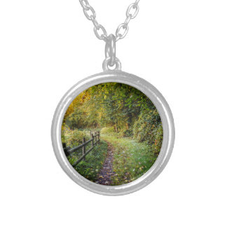 Autumn Landscape, Pathway In A Forest Necklace