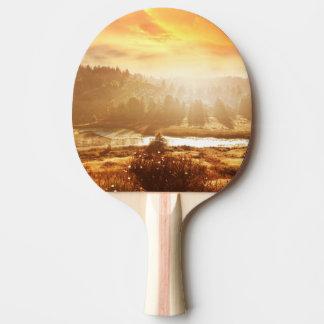 Autumn landscape ping pong paddle