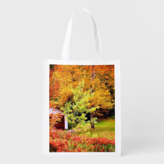 Autumn Landscape Reusable Grocery Bag