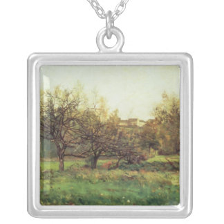 Autumn Landscape Silver Plated Necklace