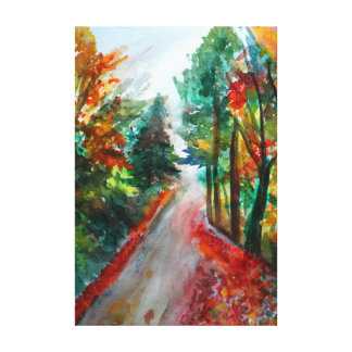 Autumn Landscape  Single Canvas Print