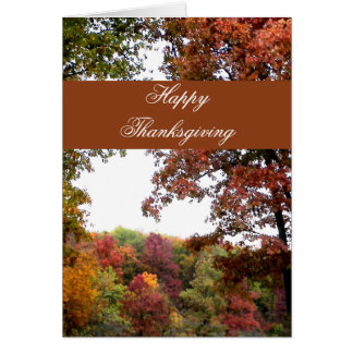 Autumn Landscape Thanksgiving Card