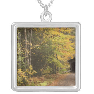 Autumn landscape, Vermont, USA 4 Silver Plated Necklace