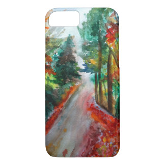 Autumn Landscape  Watercolor Art iPhone 8/7 Case