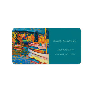 Autumn Landscape with Boats by Wassily Kandinsky Address Label