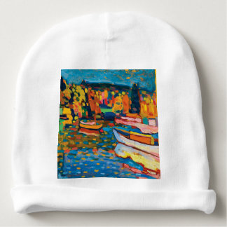 Autumn Landscape with Boats by Wassily Kandinsky Baby Beanie