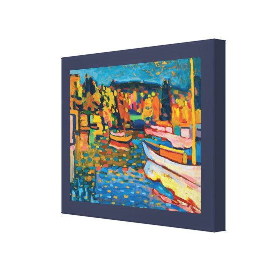 Autumn Landscape with Boats by Wassily Kandinsky Canvas