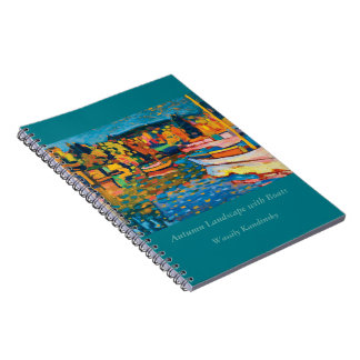Autumn Landscape with Boats by Wassily Kandinsky Spiral Notebook