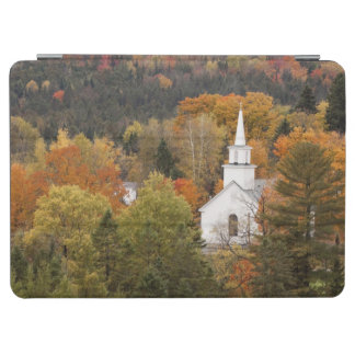 Autumn landscape with church, Vermont, USA iPad Air Cover