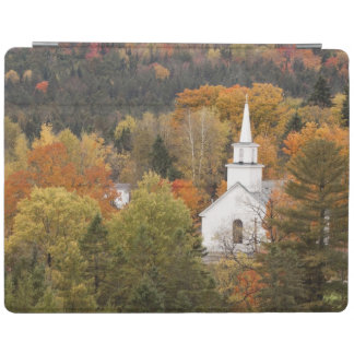 Autumn landscape with church, Vermont, USA iPad Cover
