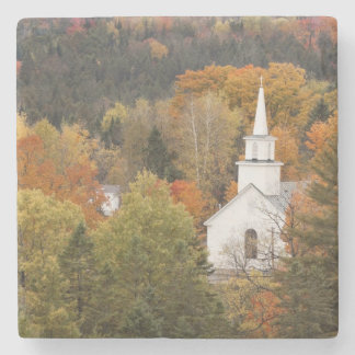 Autumn landscape with church, Vermont, USA Stone Beverage Coaster