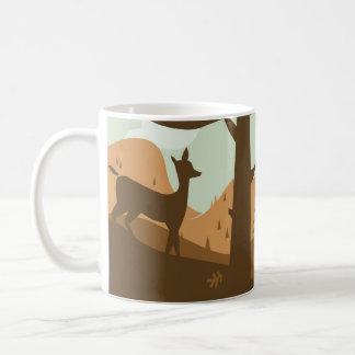 Autumn Landscape with Deer Coffee Mug