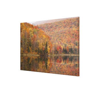 Autumn landscape with lake, Vermont, USA 2 Canvas Print