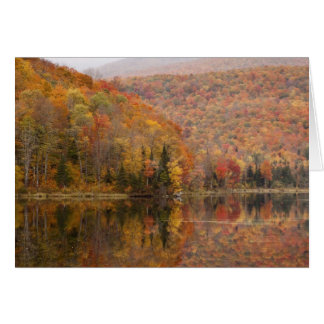 Autumn landscape with lake, Vermont, USA 2 Card