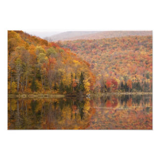 Autumn landscape with lake, Vermont, USA 2 Photo Print